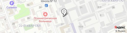 Русь на карте Ангарска