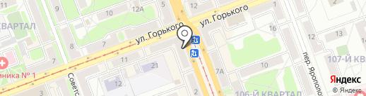 Промсвязьбанк, ПАО на карте Ангарска