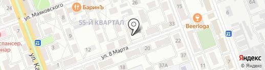 РИК на карте Ангарска