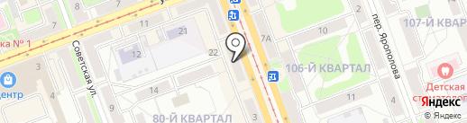 Фурор Клаб на карте Ангарска