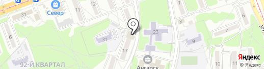 Ледосвет на карте Ангарска