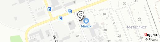 Майск на карте Ангарска