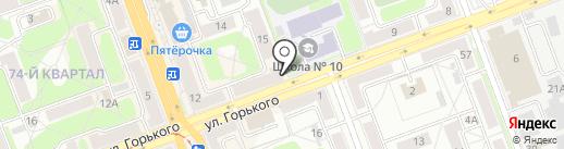 Танген на карте Ангарска