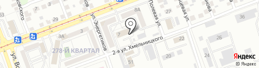 Производственник, АНО на карте Ангарска