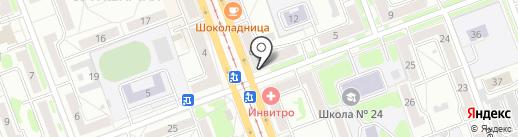 Неон на карте Ангарска