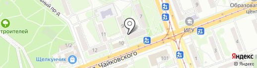 Галант на карте Ангарска