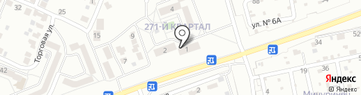 География на карте Ангарска