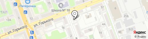 Сервико на карте Ангарска