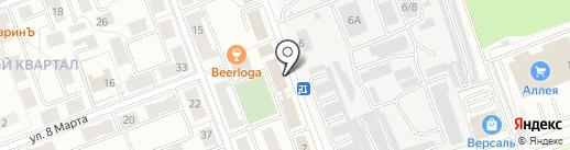 Калиновка на карте Ангарска