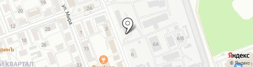 Каретный двор на карте Ангарска