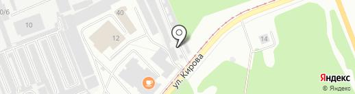Автограф на карте Ангарска