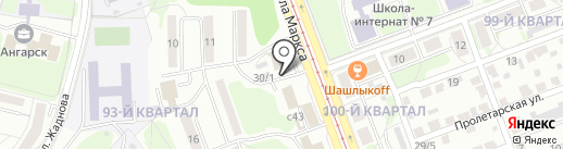 Березовая Роща, МУП на карте Ангарска
