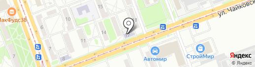ИГУ на карте Ангарска