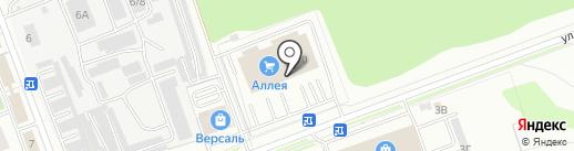 Аллея, гипермаркет на карте Ангарска