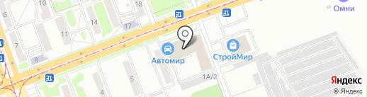 Пепперс на карте Ангарска