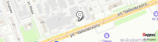 ТК на карте Ангарска
