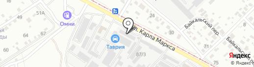 Таврия, ЗАО на карте Ангарска