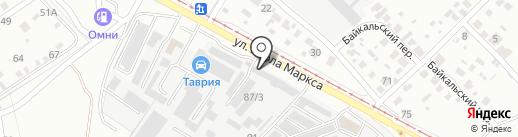 Магазин аккумуляторов на карте Ангарска