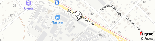 Магазин автозапчастей на карте Ангарска