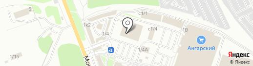 Бригадир на карте Ангарска