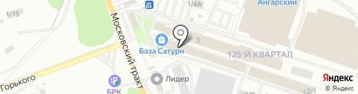 Фриз на карте Ангарска
