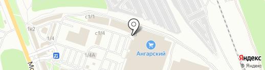 Профсталь на карте Ангарска