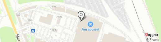Пластек на карте Ангарска