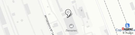 Леналес на карте Ангарска