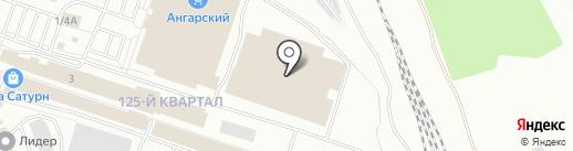 Сеть магазинов на карте Ангарска