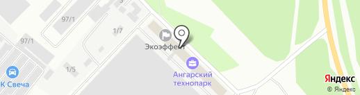 Отражение на карте Ангарска