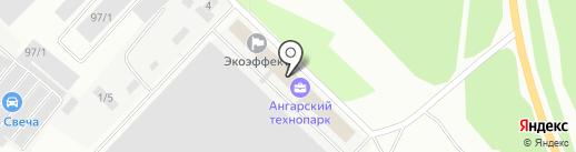 Мебельный магазин на ул. 290-й квартал на карте Ангарска