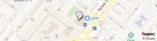 Паутина на карте Шелехова