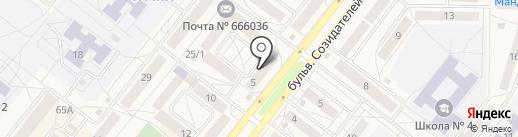 Магазин детских товаров на карте Шелехова