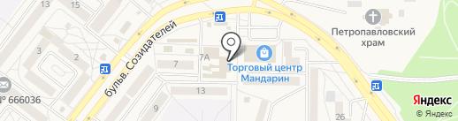 Магазин швейной фурнитуры на карте Шелехова