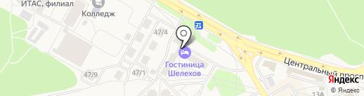 Хостел на карте Шелехова