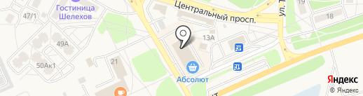 Сеть автоматов по продаже контактных линз на карте Шелехова