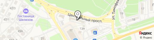 Магазин строительно-отделочных материалов на карте Шелехова