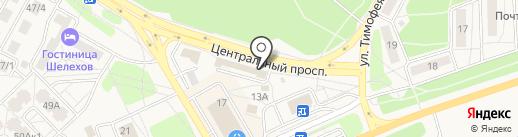 Uberture на карте Шелехова