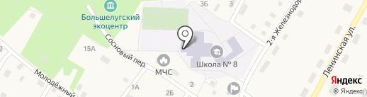 Средняя общеобразовательная школа №8 на карте Большого Луга