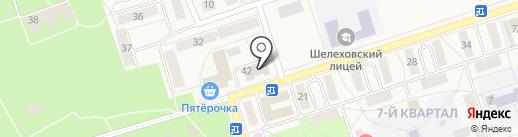 Банька на карте Шелехова