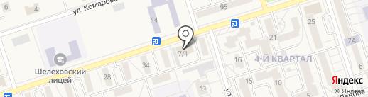 Рос на карте Шелехова