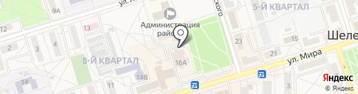 Луч на карте Шелехова