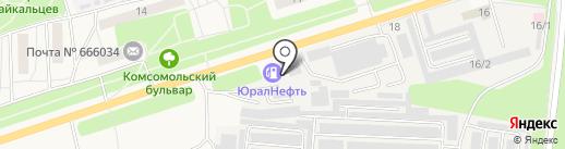 Лесотехника на карте Шелехова