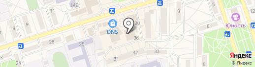 Снежинка на карте Шелехова