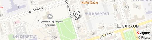 Букинист на карте Шелехова