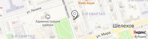 Осьминожка на карте Шелехова