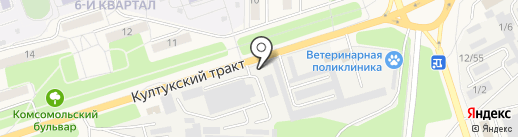 Лидер на карте Шелехова