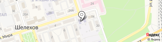 Детский сад №6 на карте Шелехова