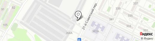 Автодок на карте Иркутска