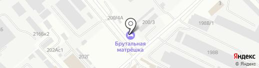 Брутальная матрёшка на карте Иркутска